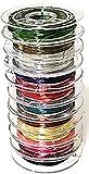 10巻 全10色 0.3 mm 手芸 ワイヤー 手作り アクセサリー DIY ネックレス ブレスレット にも (10巻全10色)