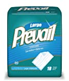 Prevail Fluff Underpad, Large, 18 Underpads (Pack of 4)