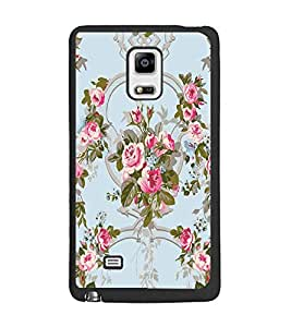 PrintDhaba Flowers D-2461 Back Case Cover for SAMSUNG GALAXY NOTE 4 (Multi-Coloured)