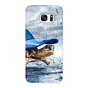 Enticing Wow Turtle Multicolor Back Case Cover for Galaxy S7 Edge