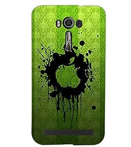 PrintDhaba GREEN ART SHADE D-6415 Back Case Cover for ASUS ZENFONE 2 LASER ZE550KL (Multi-Coloured)