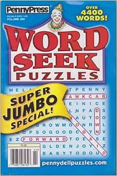 penny press word seek puzzles volume 390 various amazon