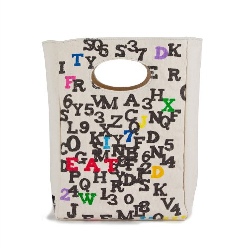 FLUF ABC Lunch Bag, 11-Inch L by 8-Inch W by 4-1/2-Inch D