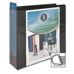 Business Source 3-Inch Slant Ring View Binder - Black (28449)