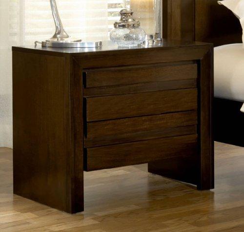 Modus Furniture International Element Nightstand, Chocolate Brown front-834484