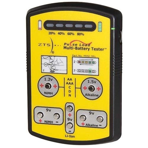 Zts Inc. Zts Mini '9Rl Multi-Battery Tester For More Than 10 Different Battery Types