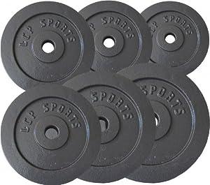 Premium Gusseisen Hantelscheiben Gewichte Sets 2,5 kg 5 kg 7,5 kg 10 kg 15 kg 20 kg, Gewichte:1 x 15 kg