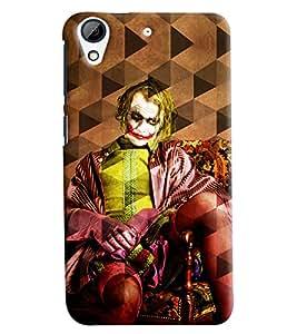 Clarks Joker Prism Effect Hard Plastic Printed Back Cover/Case For HTC Desire 728