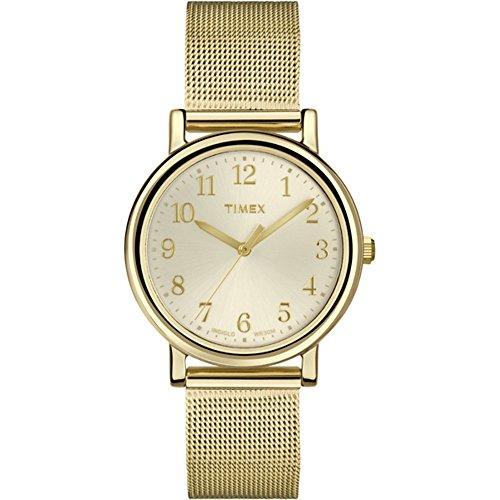 Timex Damen-Armbanduhr XS Originals Classic Round Analog Quarz Messing T2P462