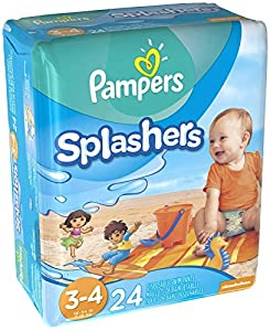 Pampers Splashers Diapers - Jumbo Pack - 24 ct., Size 3-4