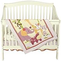 Bedtime Originals Lil' Friends 3 Piece Crib Bedding Set, Lavender/Pink