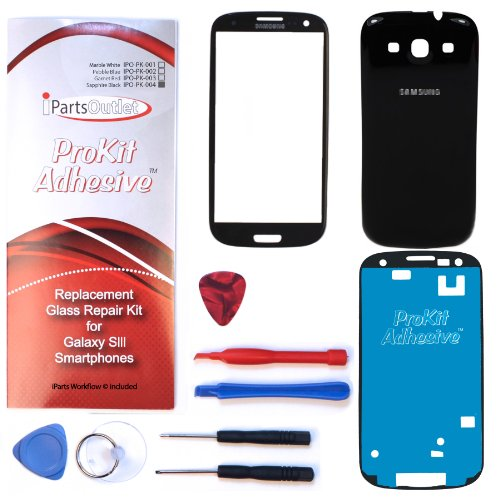 S3 Prokit Color Conversion For Sapphire Black Replacement Screen Glass Lens Color Conversion Kit S3 I9300 I747 T999 I535 (Sapphire Black) S3 Prokit Adhesive