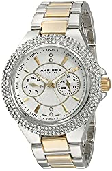 Akribos XXIV Women's AK789TTG Analog Display Swiss Quartz Multi-Color Watch
