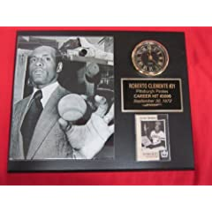 Roberto Clemente Pittsburgh Pirates 3000th Hit Collectors Clock Plaque w 8x10 Photo... by J & C Baseball Clubhouse
