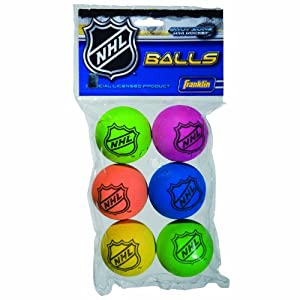 Franklin Sports NHL Mini Hockey Replacement Foam Balls (Assorted Colors)
