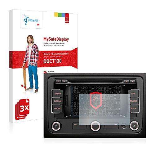 3x Vikuiti MySafeDisplay Displayschutzfolie DQCT130 von 3M passend für Volkswagen RNS-315 Navigationssystem