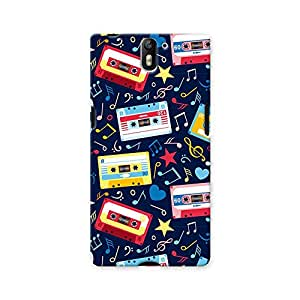ArtzFolio Music Cassettes : OnePlus One Matte Polycarbonate ORIGINAL BRANDED Mobile Cell Phone Protective BACK CASE COVER Protector : BEST DESIGNER Hard Shockproof Scratch-Proof Accessories
