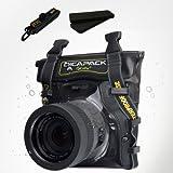 "DiCAPac D-SLR Mirrorless RF Digital Camera Underwater Sport Outdoor Waterproof Case Bag WP-S5 (8.26 x 7.48"") with Strap"