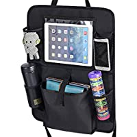 MaidMAX 903058 Backseat Organizer with Touch Screen Pocket (Black)