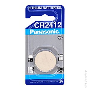 Panasonic - Pila botón litio blister CR2412 PANASONIC 3V 100mAh por Panasonic
