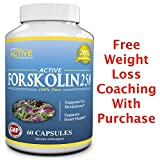 Active Forskolin 250 mg Standardized to 20% from Coleus Forskohlii Root Extract