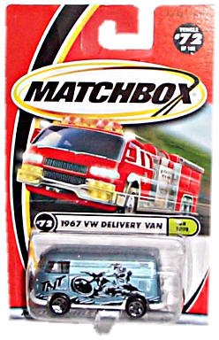 "Matchbox - Mattel Wheels - 2000 Collection - #72 of 100 - ""On Tour"" Series - 1967 VW (Volkswagen) Delivery Van"