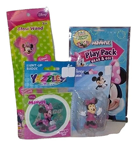 Minnie Mouse Bowtique Birthday Girl Bundle Wand Set Activity Pack Glow Wand