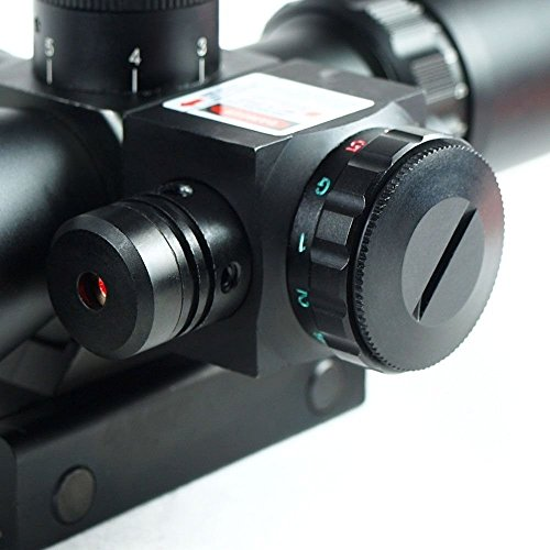 OurGears Rifle Scope 2.5-10 X 40 Red & Green Illuminated Crosshair