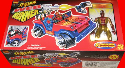 Buy Low Price Marvel Spider-man – Web Runner Vehicle Playset with 5″ Spider-man Figure (1997) (B004V9HRHK)