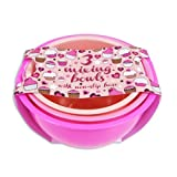 Royle Pack Of 3 Pink Kitchen Baking & Mixing Plastic Bowls With Non Slip Base 2.5L 2L 1.5L