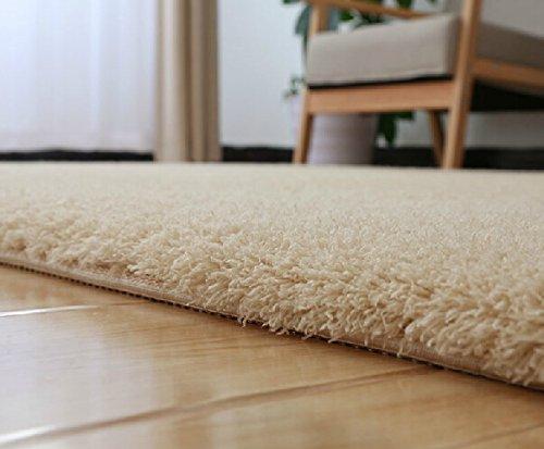 Stay Young® Beautiful Camel Thicken Version Plush Shaggy Area Rug Bedroom Living Carpet Non Slip Doormat Floor Mat Absorbent Bathmat Bathroom Shower Rug Carpet (19.69*47.24 Inch)