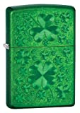 Zippo Meadow Green Iced Clover Lighter (5 1/2 x 3 1/2-Inch)