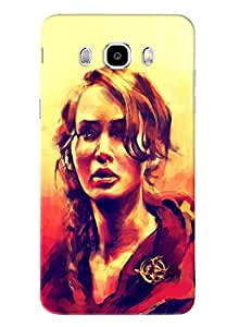 Omnam Hollywood Actress Painting Printed Designer Back Cover Case For Samsung Galaxy J7 (2016)
