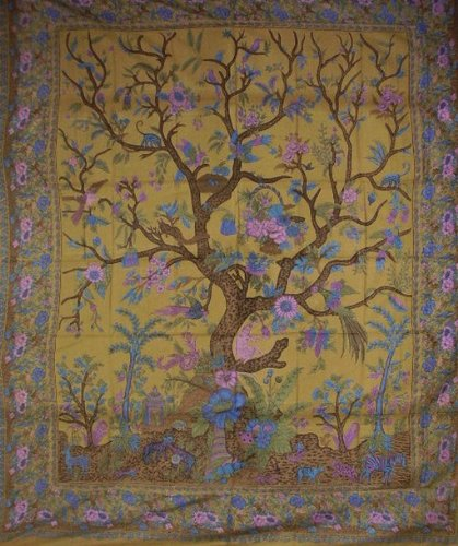 Tree Of Life Tapestry Spread Throw Versatile Home Decor front-805229