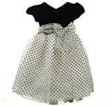 Nannette Girl V-Neck Dotted Dress