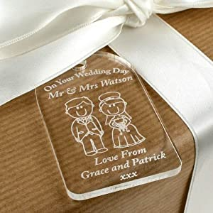 Typical Wedding Gift For Bride From Groom : Bride & Groom Gift Tag, Wedding Label, Traditional Wedding Gift ...