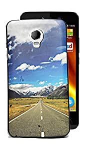 ECellStreet Designer Printed Soft Back Case Cover Back Cover For Micromax Bolt Q325 - Road