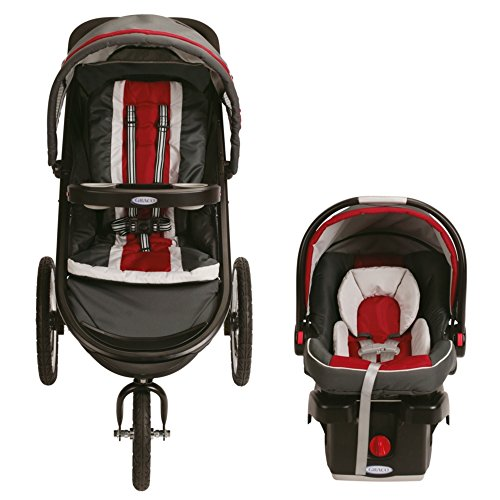 Graco Fastaction Fold Jogger Click Connect Travel System, Chili Red 2015