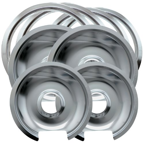 Range Kleen 1056R68Ge4X Chrome Drip Pan And Trim Ring Set With Two 6-Inch Drip Pans, Two 8-Inch Drip Pans And Four Trim Rings, 8-Piece front-11563