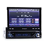 Auna-MVD-260-Moniceiver-Touchscreen-Autoradio-USB-Autoradio-mit-Bluetooth-DVD-MP3-CD-Player-18cm-7-Zoll-Display-USB-SD-Slot-Fernbedienung-Freisprechanlage-AUX-abnehmbarem-Bedienteil-schwarz
