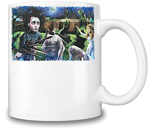 Edward Scissorhands Illustration Tazza Coffee Mug Ceramic Coffee Tea Beverage Kitchen Mugs By Slick Stuff