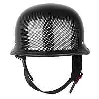 Iglobalbuy Half Helmet DOT Carbon Fiber German Style Motorcycle Cruiser Custom Airsoft Paitball Biker M/L/XL (M) from Iglobalbuy Ltd
