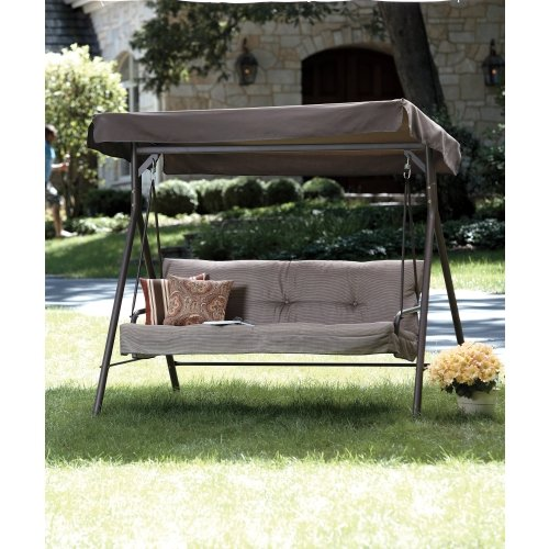 Living Accents 3 Person Canopy Swing Review - Cheap Porch Swings: Living  Accents 3 Person - Canopy Porch Swing Home Design Styles