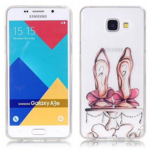TUOTR Coque Housse Etui pour Samsung Galaxy A3 (2016) Ecran: 4,7 pouces) Coque en Silicone,Samsung Galaxy A310F Silicone Coque Housse Transparent