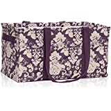 Thirty One Deluxe Utility Tote in Vintage Damask - 4441 - No Monogram
