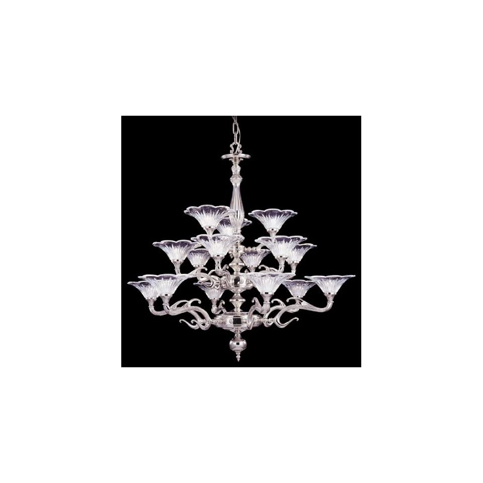 Framburg 8623 PS Polished Silver Geneva Traditional / Classic 15 Light Up Lighting Chandelier from the Geneva Collection