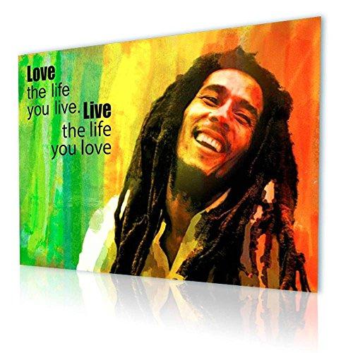 Alonline Art - Bob Marley Jamaican Reggae Singer Quote Alonline Designs PRINT On CANVAS (Synthetic, UNFRAMED) Cyber Monday 21