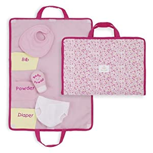 North American Bear Company Rosy Cheeks Baby Changing Pad Set