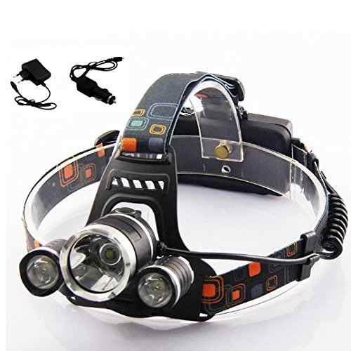 Hot CREE XML T6 LED Headlight Waterproof 5000 Lumens LED Headlamp T6 Flashlight Torch Lantern Head lamp Chargers for Fishing (S10 Headlight Covers compare prices)