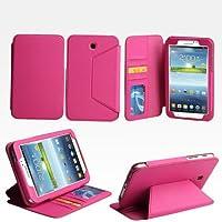 Bear Motion Premium Folio Case For 7 Inch Samsung Galaxy Tab 3 7 Tablet (P3200) - Hot Pink